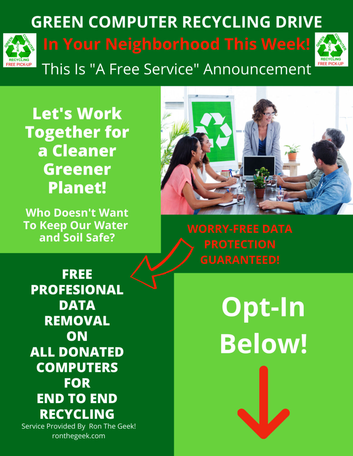 """""""Computer Recycling Drive"""" Opt Me-In"""